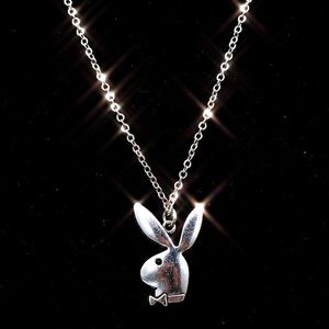 NEW Playboy silver stainless steel necklace